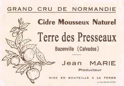 Etiquette cidre Jean Marie