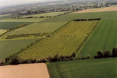 Vista aérea de la huerta Terre des Presseaux